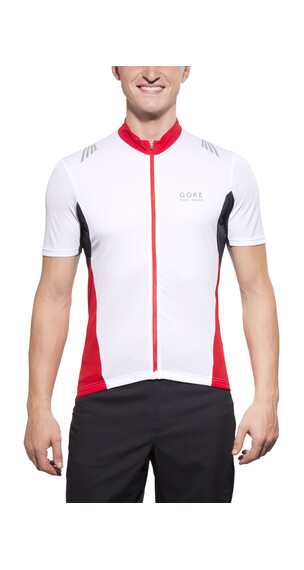 GORE BIKE WEAR Element Full-Zip Jersey Men white/red